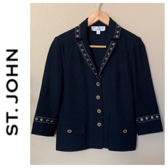 St. John Collection Jackets & Blazers - ST JOHN Collection by Marie Gray blazer